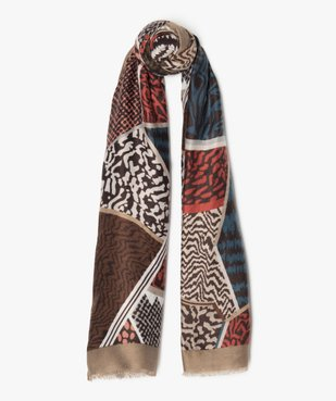 Foulard femme multicolore avec motifs abstraits vue1 - Nikesneakers (ACCESS) - Nikesneakers