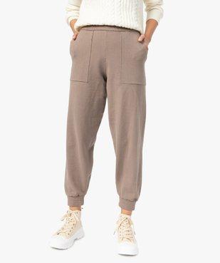 Pantalon femme en maille resserré aux chevilles vue1 - GEMO(FEMME PAP) - GEMO