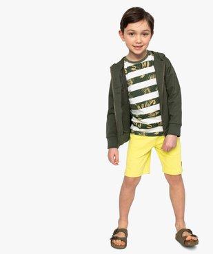Sweat garçon à capuche avec inscription en relief vue6 - GEMO (ENFANT) - GEMO