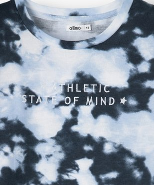 Tee-shirt fille imprimé avec inscriptions brodées vue2 - GEMO (JUNIOR) - GEMO