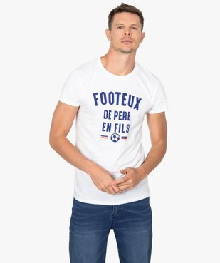 Tee-shirt homme à manches courtes message humour football vue1 - GEMO C4G HOMME - GEMO