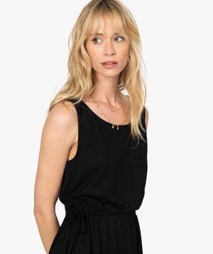 Robe tee-shirt femme avec liens à la taille vue2 - GEMO(FEMME PAP) - GEMO