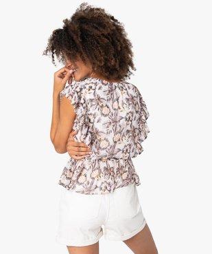 Blouse femme sans manches à volants plissés vue3 - GEMO(FEMME PAP) - GEMO