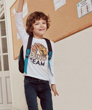 Tee-shirt garçon imprimé à manches longues vue6 - GEMO C4G GARCON - GEMO