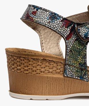 Sandales femme à talon compensé fermeture scratch vue6 - GEMO(URBAIN) - GEMO