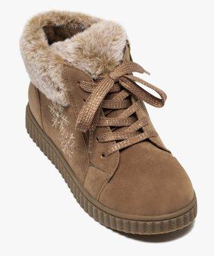 Boots fille rembourrées en suédine unie à col duveteux vue5 - Nikesneakers (ENFANT) - Nikesneakers