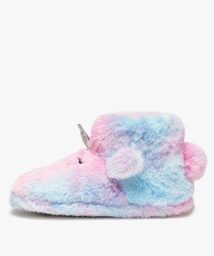 Chaussons fille boots en forme de licorne vue3 - GEMO (ENFANT) - GEMO