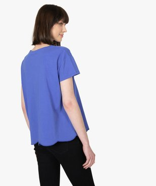Tee-shirt femme à manches courtes avec bas brodé vue3 - Nikesneakers(FEMME PAP) - Nikesneakers