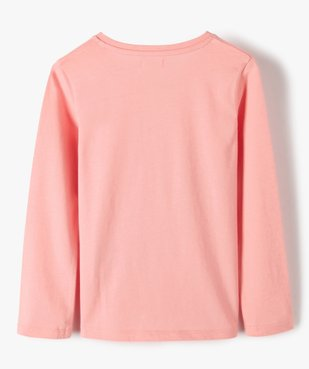 Tee-shirt fille à manches longues et motif sur l'avant vue4 - GEMO C4G FILLE - GEMO