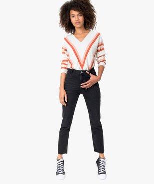 Jean femme regular taille haute à bords francs vue5 - Nikesneakers(FEMME PAP) - Nikesneakers