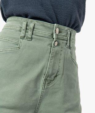 Short femme en toile de coton taille haute vue2 - GEMO(FEMME PAP) - GEMO