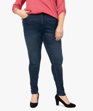 Jean femme slim taille normale confort + vue1 - GEMO (G TAILLE) - GEMO
