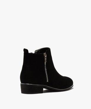 Boots fille en suédine avec talon carré et détails métallisés vue4 - GEMO (ENFANT) - GEMO