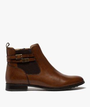 Boots femme unis à talon plat dessus cuir – Pierre Cardin vue1 - PIERRE CARDIN D - GEMO