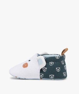 Chaussons de naissance bébé garçon imprimés tête d'ours vue3 - Nikesneakers(BB COUCHE) - Nikesneakers