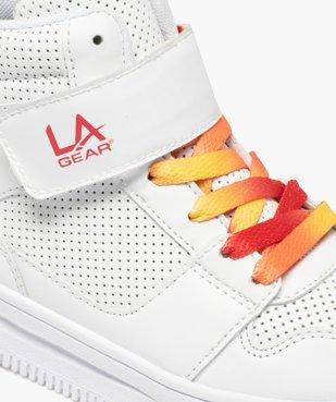 Baskets fille montantes à scratch lumineux - LA Gear vue6 - L.A. GEAR - GEMO