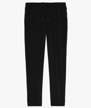 Pantalon femme fluide à taille élastiquée vue4 - GEMO(FEMME PAP) - GEMO