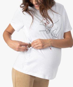 Tee-shirt de grossesse et d'allaitement à manches courtes et motif vue2 - Nikesneakers (MATER) - Nikesneakers