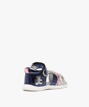 Sandales bébé fille métallisées à scratch - Lulu Castagnette  vue4 - LULU CASTAGNETT - GEMO