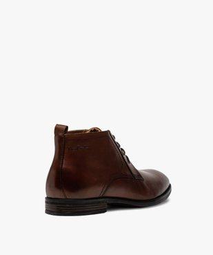 Derbies homme unis chukka boots en cuir – Pierre Cardin vue4 - PIERRE CARDIN D - GEMO