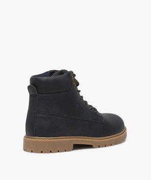 Boots homme à semelle crantée et lacets - Les Supaires à semelle contrastante et lacets bicolores vue4 - GEMO (CASUAL) - GEMO