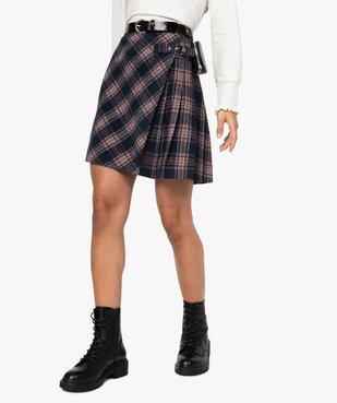 Jupe femme courte à carreaux style écossais vue1 - GEMO(FEMME PAP) - GEMO