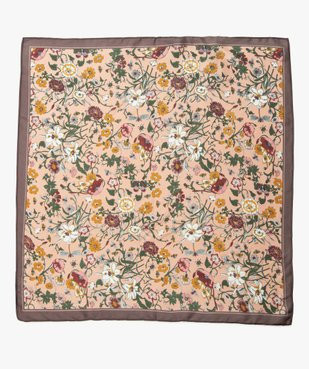 Foulard femme carré petit format à imprimé fleuri vue3 - GEMO (ACCESS) - GEMO