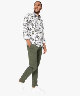 Chemise homme fleurie à manches longues repassage facile vue5 - GEMO (HOMME) - GEMO