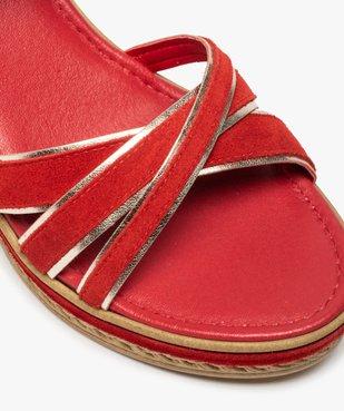 Sandales femme à talon compensé et détails métallisés vue6 - GEMO(URBAIN) - GEMO