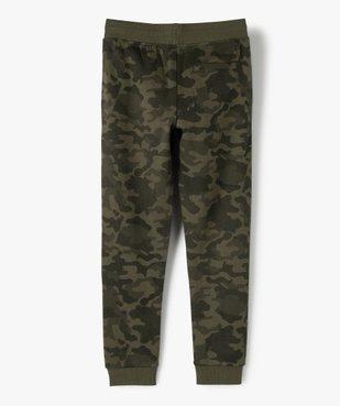 Pantalon de jogging garçon avec inscription sur la jambe vue4 - GEMO (ENFANT) - GEMO