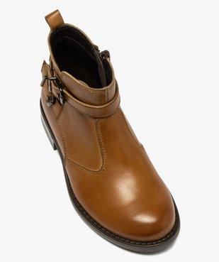 Boots fille dessus cuir uni à bride décorative vue5 - GEMO (ENFANT) - GEMO