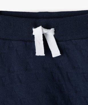 Pantalon bébé garçon en maille effet matelassé vue2 - GEMO(BB COUCHE) - GEMO