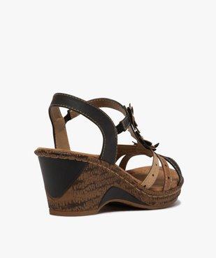 Sandales femme à talon compensé extra légères vue4 - GEMO(URBAIN) - GEMO