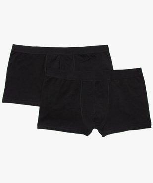 Boxer homme uni en coton biologique (lot de 2) - Grande Taille vue1 - GEMO C4G HOMME - GEMO