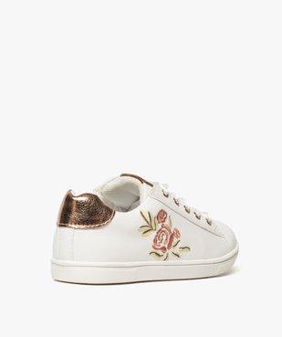 Baskets fille avec motif rose brodé et lacets rubans vue4 - Nikesneakers (ENFANT) - Nikesneakers