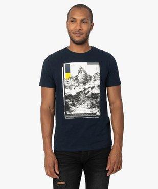 Tee-shirt homme avec motif montagne vue1 - GEMO (HOMME) - GEMO