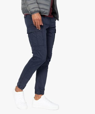 Pantalon homme cargo multipoche au coloris unique vue1 - Nikesneakers (HOMME) - Nikesneakers