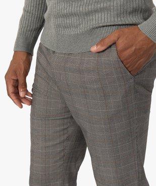 Pantalon homme à motif Prince de Galles vue2 - Nikesneakers (HOMME) - Nikesneakers