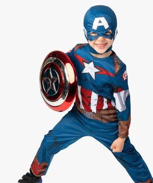 Déguisement enfant Captain America - Marvel (2 pièces : costume + cagoule masque) vue1 - MARVEL - GEMO