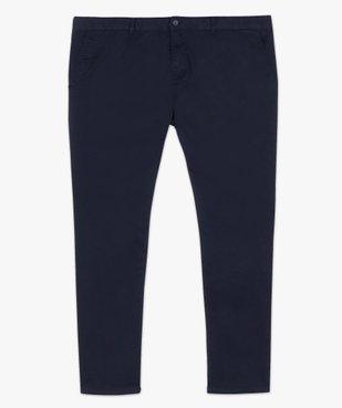 Pantalon homme en toile coupe Straight vue4 - GEMO (G TAILLE) - GEMO