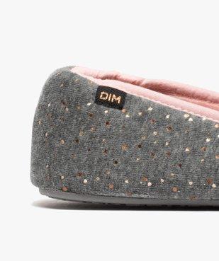 Chaussons femme slippers en velours pailleté - Dim vue6 - DIM - GEMO