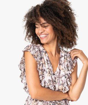 Blouse femme sans manches à volants plissés vue2 - GEMO(FEMME PAP) - GEMO