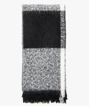 Écharpe fille oversize à carreaux en maille duveteuse vue1 - Nikesneakers (JUNIOR) - Nikesneakers