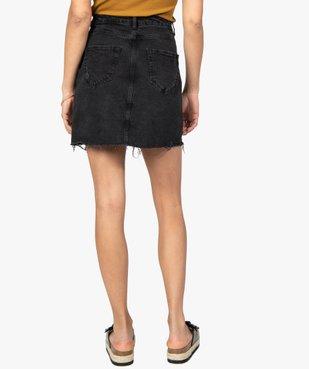 Jupe femme en jean aspect usé vue3 - GEMO(FEMME PAP) - GEMO