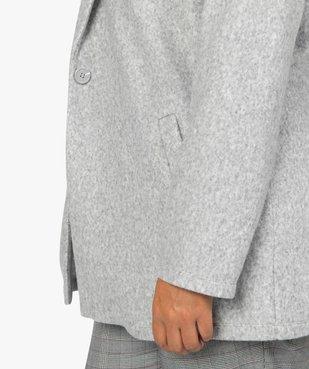Manteau femme en maille polaire avec grand col vue2 - GEMO (G TAILLE) - GEMO