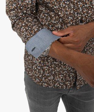 Chemise homme à motifs fleuris coupe slim vue2 - GEMO (HOMME) - GEMO