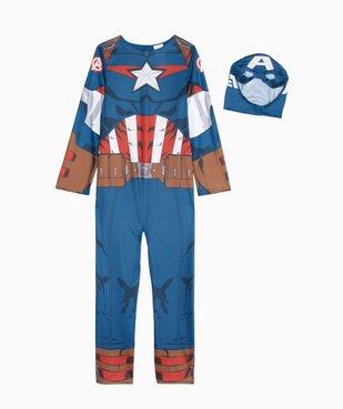 Déguisement enfant Captain America - Marvel (2 pièces : costume + cagoule masque) vue2 - MARVEL - GEMO