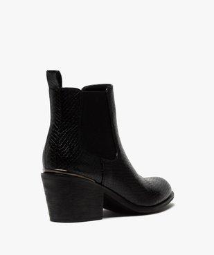Boots femme à talon style chelsea unis vue4 - GEMO(URBAIN) - GEMO