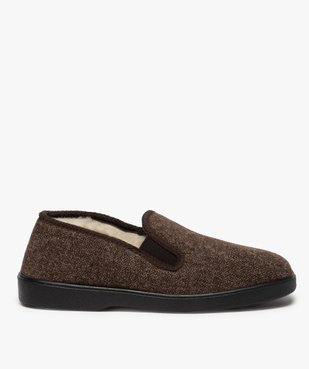 Chaussons homme dessus en tissu à chevrons vue1 - THERITEX - Nikesneakers