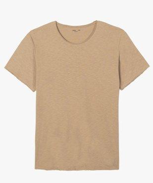 Tee-shirt homme à manches courtes et col roulotté vue4 - GEMO (HOMME) - GEMO